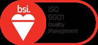 BSI Assurance Mark ISO 9001 Red 200