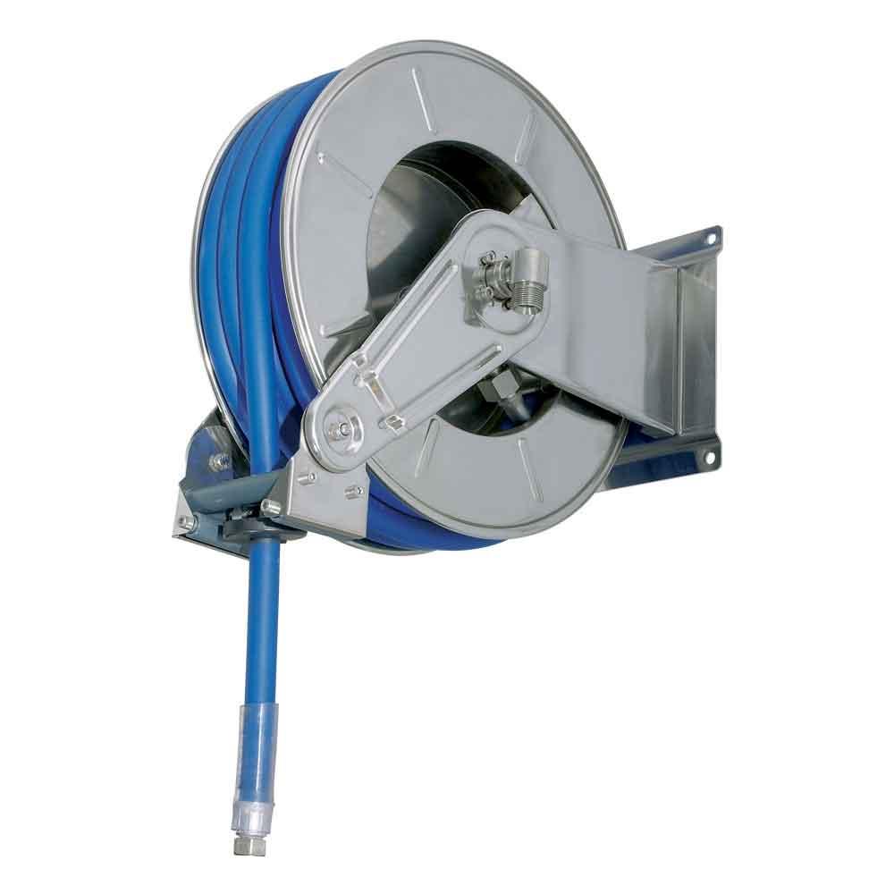 """โรลม้วนเก็บสายฉีดน้ำ RAMEX AV3501 Hose reels for water - high pressure Upto 80 bar/1160 psi  โรลม้วนเก็บสายอัตโนมัติ ใช้กับเครื่องฉีดน้ำแรงดันสูง 0 - 80 บาร์ ผลิตจากอิตาลี ใช้ในอุตสาหกรรมฟาร์มปศุสัตว์ โรงงานอุตสาหกรรม อู่ซ่อมรถยนต์ เกษตรกรรม ก่อสร้าง เหมืองแร่ เรือเดินสมุทร ใช้กับสายขนาด 3/4"""" 1"""" 1""""1/4 1""""1/2 2"""""""