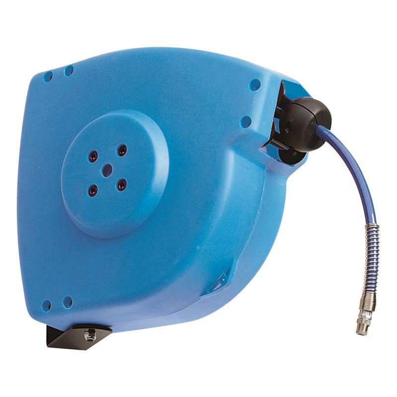 โรลม้วนสาย RAMEX AVC1514 Compressed Air Hose Reels 0-20 Bar โรลม้วนเก็บสายลม 0-20 บาร์ ผลิตจากอิตาลี แบบติดผนัง ดึงกลับอัตโนมัติ ใช้ในอุตสาหกรรมฟาร์มปศุสัตว์ ภัตตาคาร โรงงานอุตสาหกรรม อู่ซ่อมรถยนต์ เกษตรกรรม ก่อสร้าง เหมืองแร่ เรือเดินสมุทร