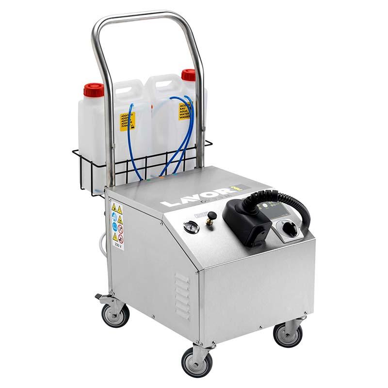 GV Etna 3.3M Plus เครื่องฉีดไอน้ำแรงดันสูง GV 3.3 M Plus เหมาะสำหรับงานทำความสะอาดคราบน้ำมัน สำหรับห้องครัว โรงพยาบาลหรือสถานที่ๆ ต้องการความสะอาดแบบปลอดเชื้อตัวถังทำจากสแตนเลส