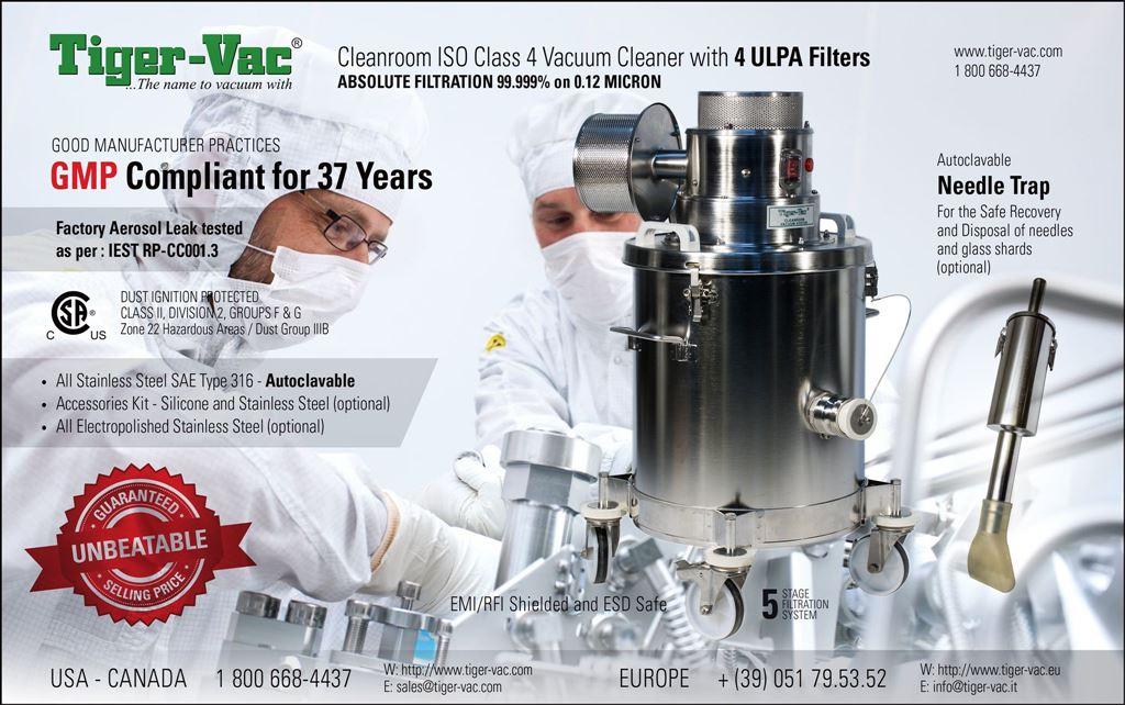 Tigervacuum cleanroom industrial machine cleaning iso hepa filter ulpa